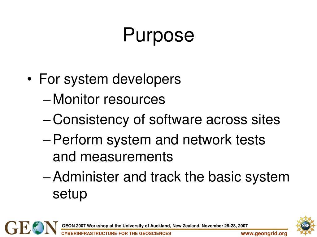 For system developers