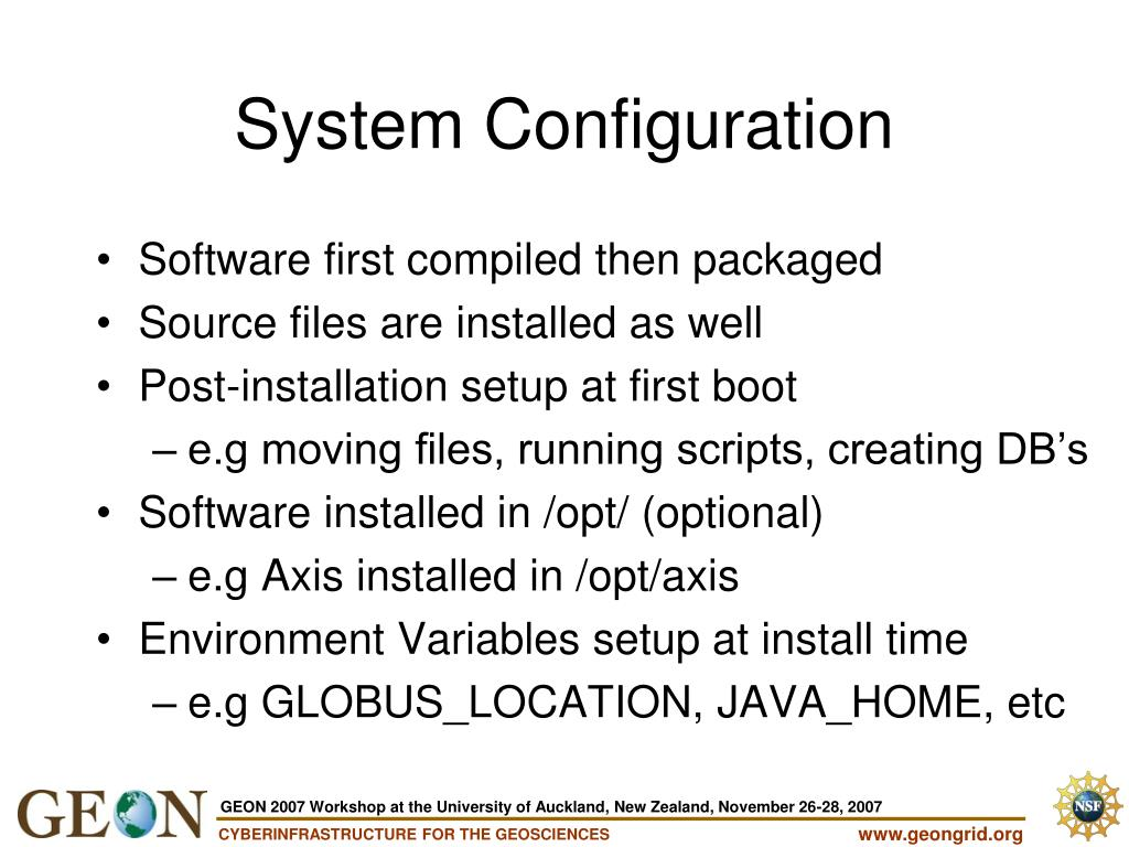 Software first compiled then packaged