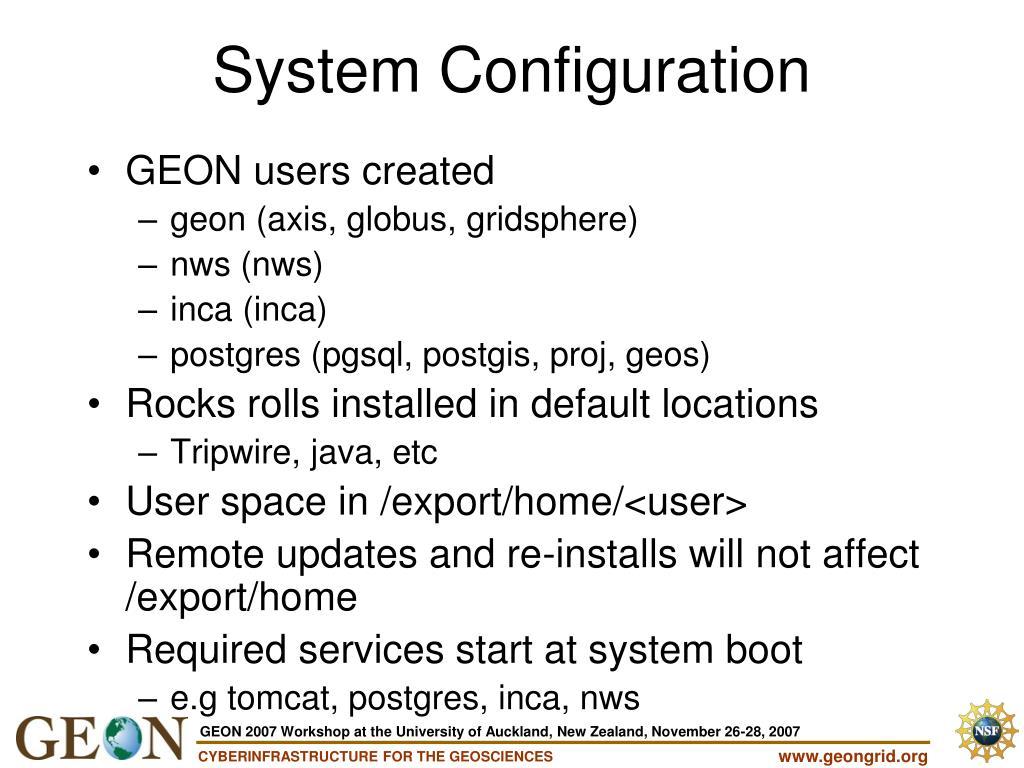 GEON users created