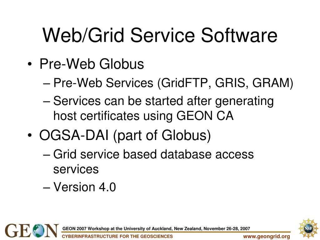 Pre-Web Globus