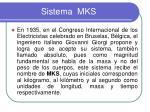 sistema mks