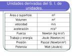 unidades derivadas del s i de unidades