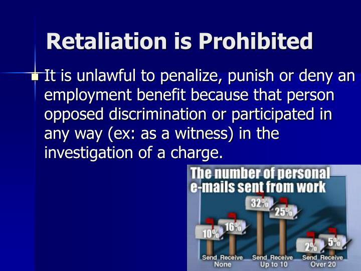 Retaliation is Prohibited