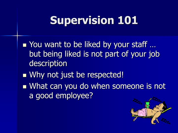 Supervision 101