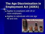 the age discrimination in employment act adea