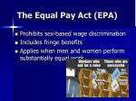 the equal pay act epa