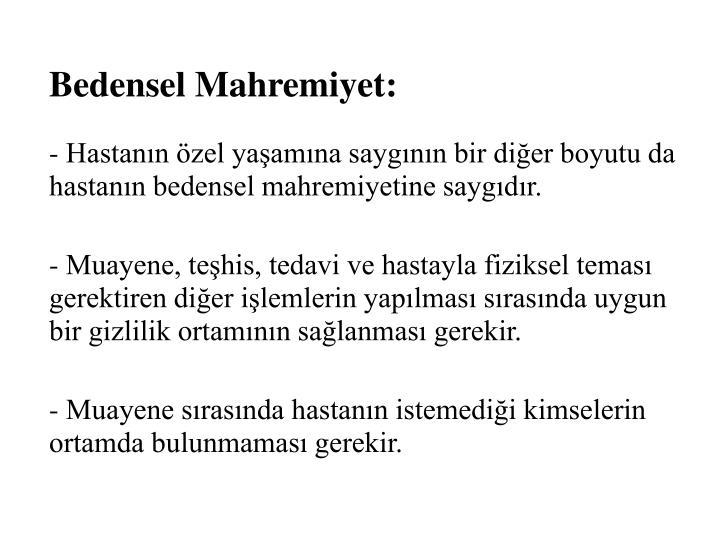 Bedensel Mahremiyet: