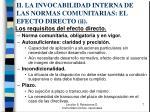 ii la invocabilidad interna de las normas comunitarias el efecto directo ii