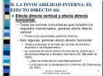 ii la invocabilidad interna el efecto directo iii