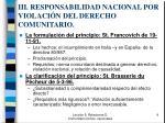 iii responsabilidad nacional por violaci n del derecho comunitario