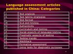 language assessment articles published in china categories10