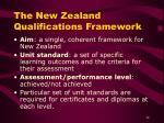 the new zealand qualifications framework