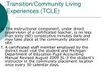 transition community living experiences tcle3