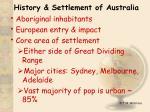 history settlement of australia