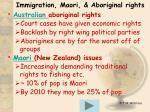 immigration maori aboriginal rights