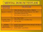 mental durum testler