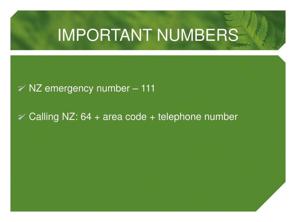 NZ emergency number – 111
