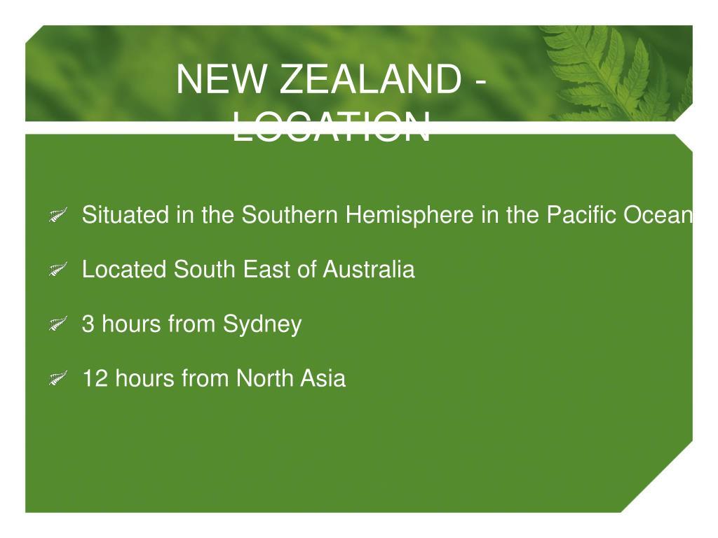 NEW ZEALAND - LOCATION