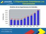 1 2 exportaciones colombianas y su concentraci n