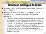 comiss o geol gica do brasil