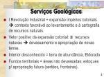 servi os geol gicos1