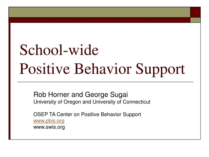 school wide positive behavior support n.