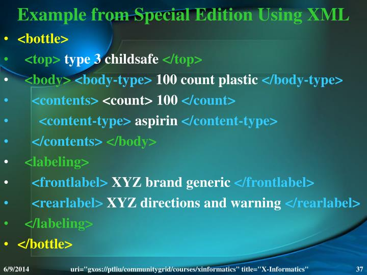 Example from Special Edition Using XML