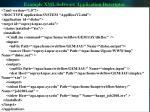 example xml software application descriptor