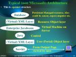 typical non microsoft architecture