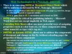 web technologies in a nutshell dhtml
