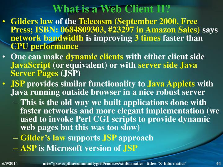 What is a Web Client II?