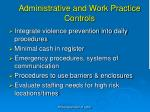 administrative and work practice controls2