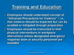 training and education1