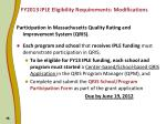 fy2013 iple eligibility requirements modifications