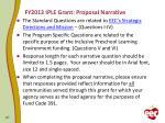 fy2013 iple grant proposal narrative
