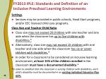 fy2013 iple standards and definition of an inclusive preschool learning environments