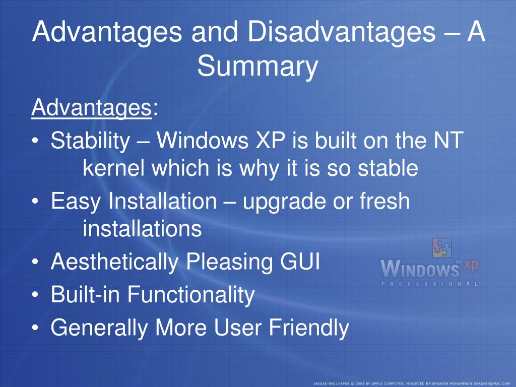 Advantages and Disadvantages – A Summary