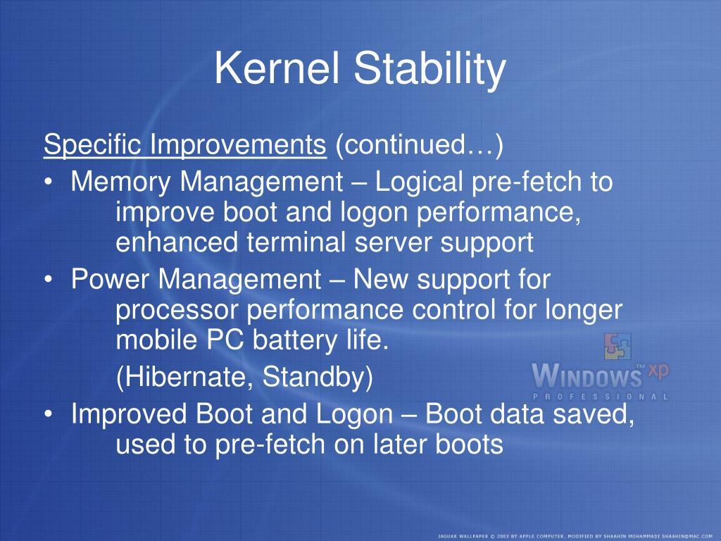 Kernel Stability