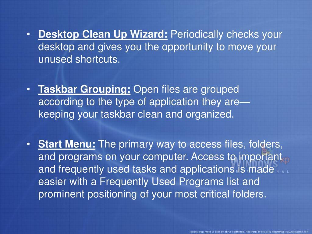Desktop Clean Up Wizard: