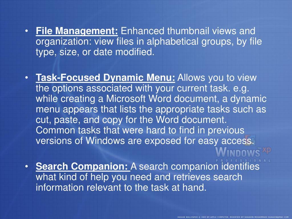 File Management: