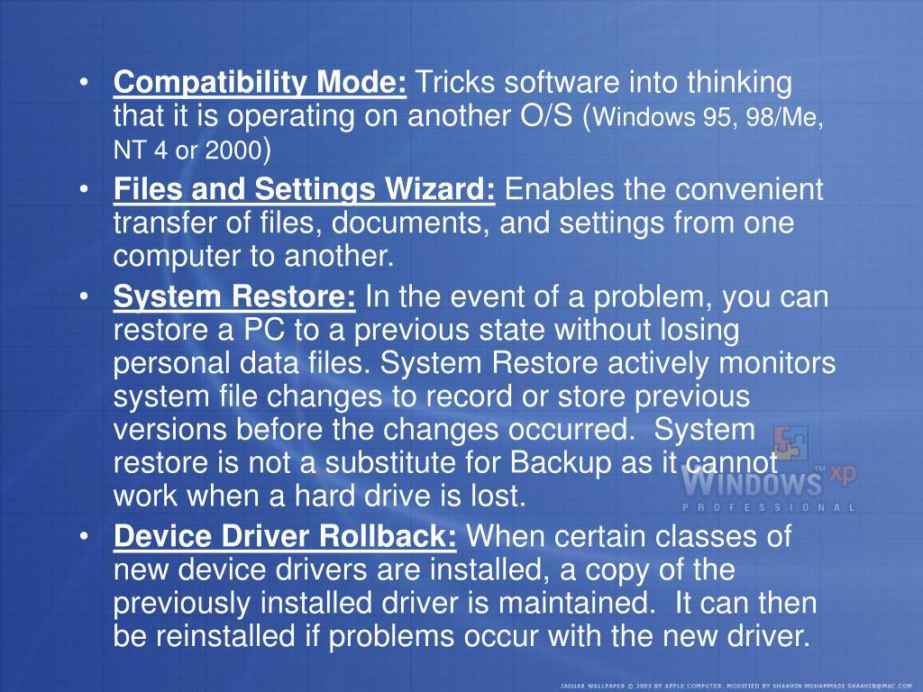 Compatibility Mode: