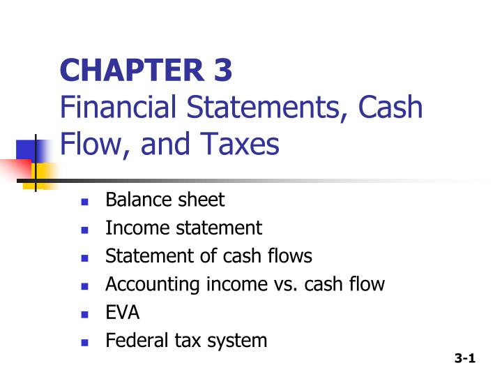 chapter 3 financial statements cash flow and taxes n.