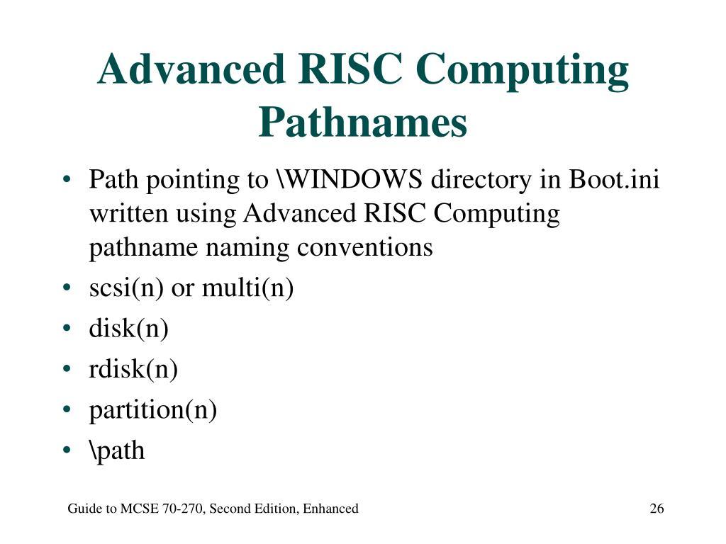 Advanced RISC Computing Pathnames