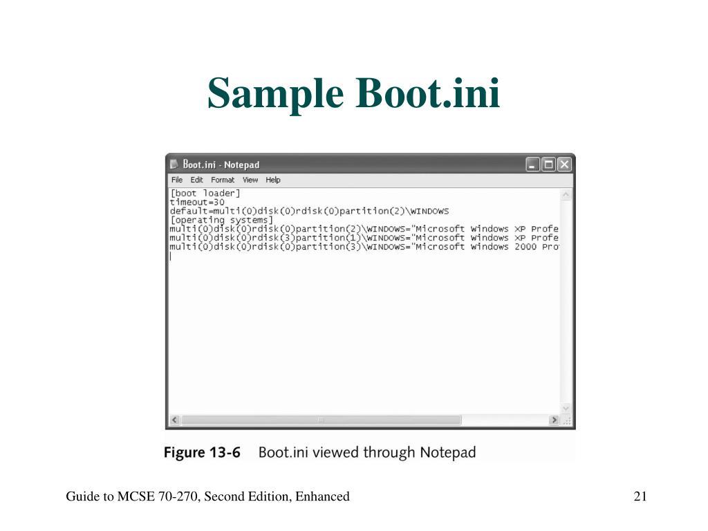 Sample Boot.ini