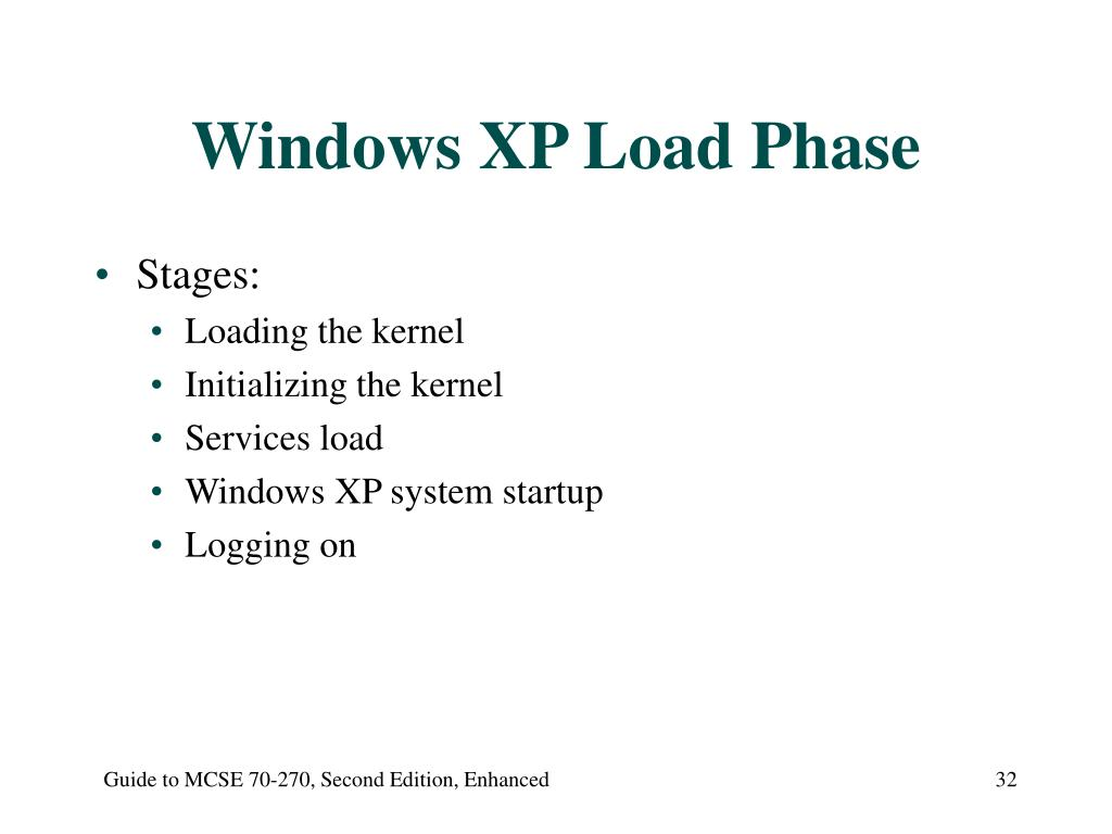 Windows XP Load Phase