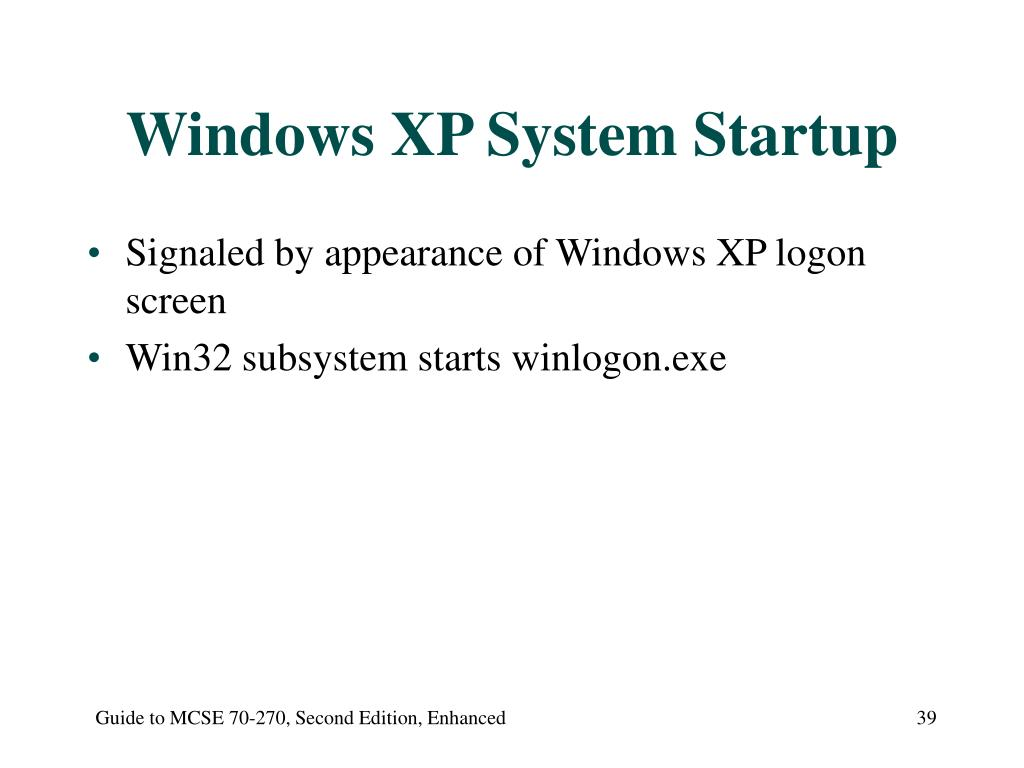 Windows XP System Startup