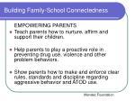 building family school connectedness