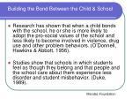 building the bond between the child school