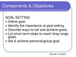 components objectives