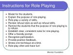instructions for role playing